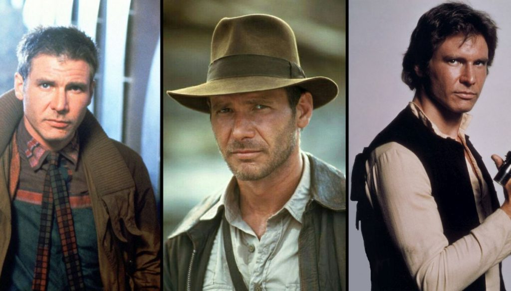 iconic roles harrison ford han solo indiana jones rick deckard