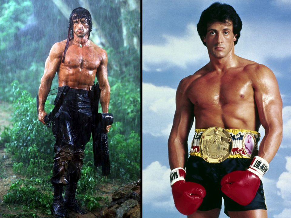 iconic roles sylvester stallone rambo rocky