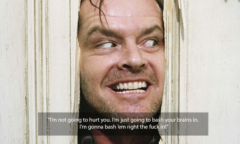 shining jack nicholson quote