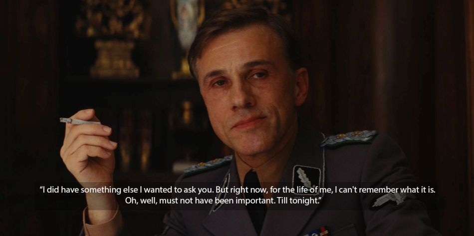inglorious basterds christoph waltz quote