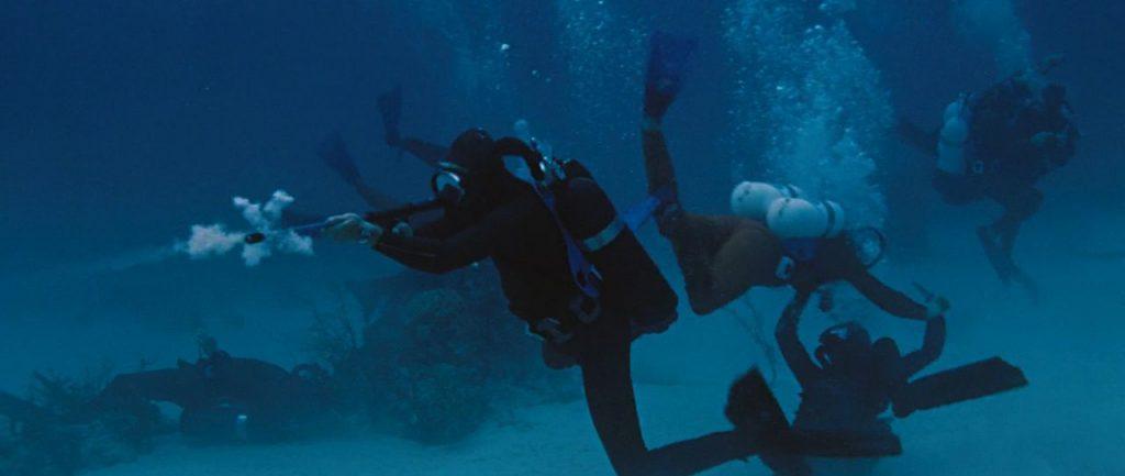 Thunderball review James Bond underwater battle